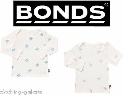 2 PACK x BONDS BABY LONG SLEEVE TEE Top Newbie Newborn Premature Clothes BYT8