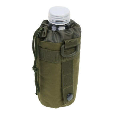 Nylon Tactical Outdoor Hiking Camping Molle Water Bottle Bag Army Green