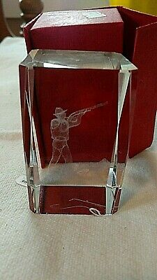 Sportsman Hunter in Clear Crystal-BEAUTIFUL GIFT