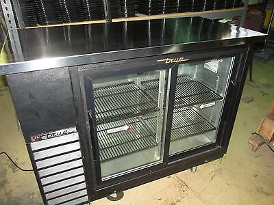 true back bar glass door storage cooler