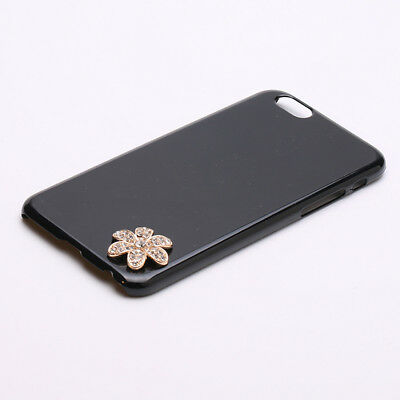 5pcs 3D Alloy Flat Back Rhinestone Cabochon Flower for DIY Phone Decoration