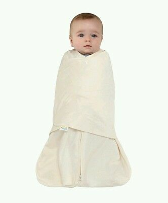 HALO BABY Kids Cream Cotton Swaddle Sleep Sack - Newborn  6-12 Lbs