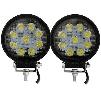 2X12V 27W LED Work Light kits for Truck OffRoad 4X4 Tractor 60 Degree Flood Beam