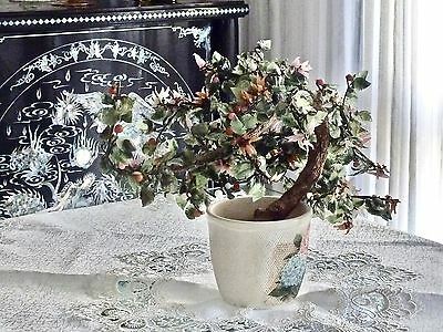 Fabulous Antique Jade / Agate  Large Bonsai Three  China C 1950's