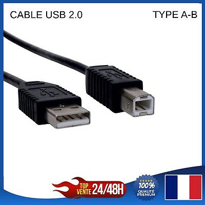 CABLE USB 2 m mètres 2.0 Type A-B pr toute imprimante Espon Canon HP Brother
