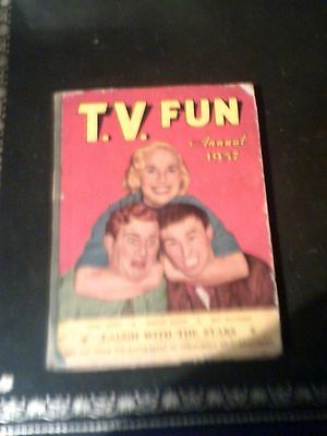 TV FUN ANNUAL 1957, Children's Annual, Published 1956, Vintage Book