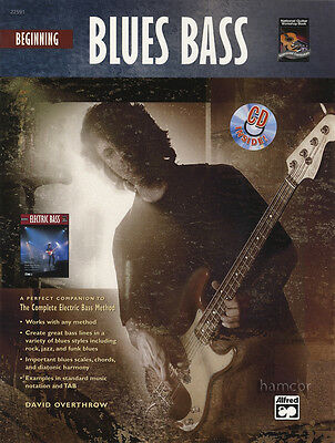 Beginning Blues Bass Guitar TAB Music Book/CD Learn How to Play Beginner Method