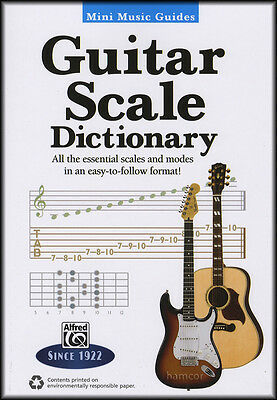 Guitar Scale Dictionary Mini Music Guides TAB Scale Book