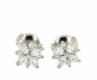 Tiffany TIFFANY VICTORIA CLUSTER EARRINGS IN PLATINUM & DIAMONDS