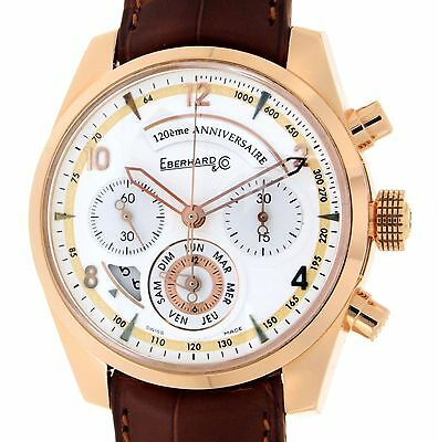 Eberhard 120° ANNIVERSARY CHRONO 30120 ROSE GOLD, LEATHER, 42MM 30120