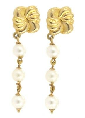 Jewelery EARRING IN YELLOW GOLD AND WHITE PEARL