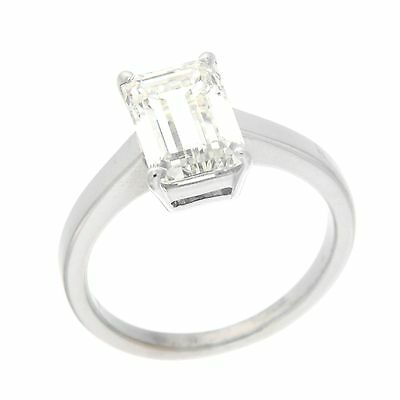 Jewelery SOLITAIRE EMERLAD CUT(2.8CT) IN WHITE GOLD