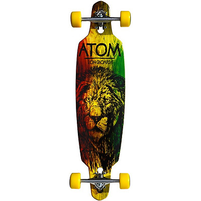 Atom Rasta Lion Drop-Through Complete Longboard - 36""