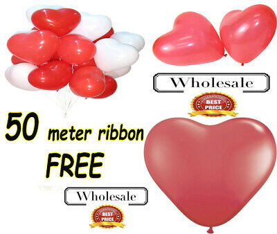 Love Assortment Red, White baloons WHOLESALE Heart Shaped Quality Latex Balloons