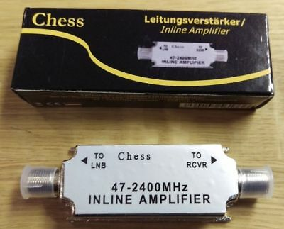 Chess Inline Satellite Amplifier 20db SAT AMP Signal Booster