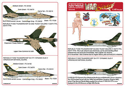 Kits-World decals 1/48 F-105D-RE-31 Thunderchief # 48160