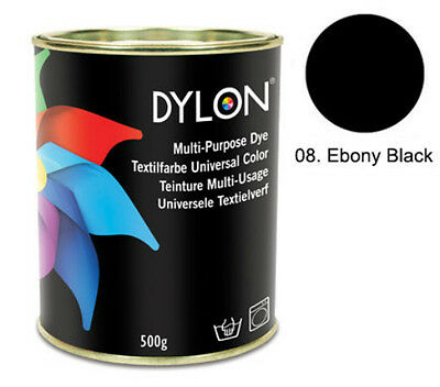 Dylon Ebony Black Multi-Purpose Dye 500g Tin