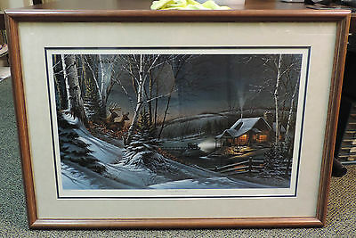 Evening With Friends by Terry Redlin Hand Signed Limited Edition Framed Print