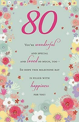 HAPPY 80TH BIRTHDAY Greeting Card Lovely Greetings Cards Nice Verse