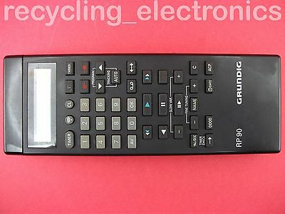 GRUNDIG RP60 LCD Remote Control Used For VCR