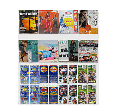 Wall Mount 24 Pocket Combination Brochure and Magazine Display System