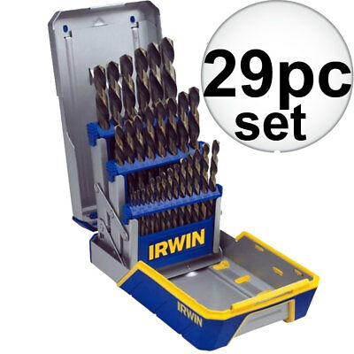 29pc Drill Bit Set Black & Gold HSS Irwin 3018005 New