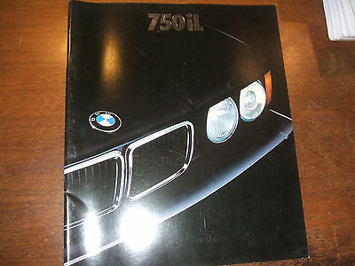 1989 BMW E32 750iL Brochure - Very large format. Approx 13 x 11 inches