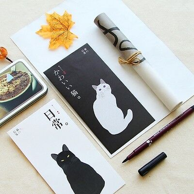 15X Envelopes 30X Writing Letter Papers Cat Vintage Stationery Set Cute Japanese