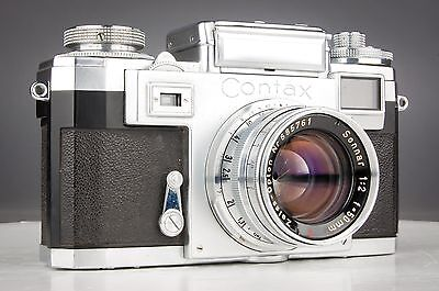 Contax IIIA Vintage 35mm Film Camera w/ 50mm f/2 Zeiss - Opton Sonnar Lens