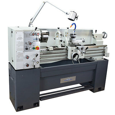 """Pm1440Gt Metal Lathe Made In Taiwan, W/ Accessories 2"""" Spindle Bore Single Phase"""