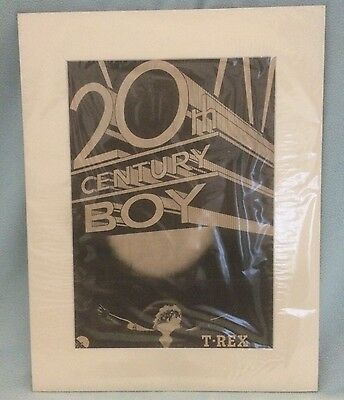 T Rex / Bolan - 20th Century Boy. Rare Original 1973 poster/advert. Mounted