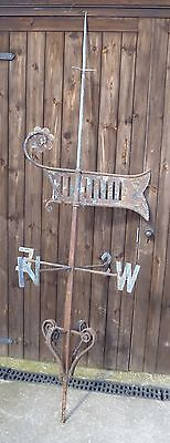 LARGE (7ft 7in high) ANTIQUE VICTORIAN WEATHER-VANE Iron and Copper weathervane