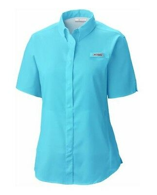 "New Womens Columbia PFG ""Tamiami II"" Omni-Shade / Wick Vented Fishing SS Shirt"
