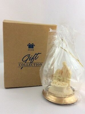 Avon 1996 Classic Nativity Ornament Glass Globe Wood Base Hang or Stand New