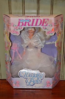 Modern Bride 1990 Wedding Bells New in Box 11 ½ Poseable Doll Style 6009