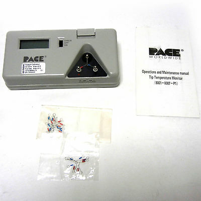 Pace 8001-0087-P1 Tip Temperature Monitor, 10 Sensors, K-Type Probe