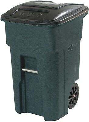 Toter 48-Gallon Garbage Greenstone Plastic Wheeled Waste Bin Trash Can with Lid