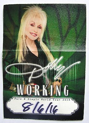 DOLLY PARTON ~ Backstage Pass PURE & SIMPLE Tour - Soft Patch