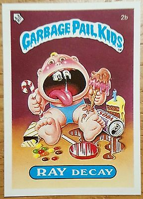 Ray Decay 2b Garbage Pail Kids (1985) UK 1st Series Sticker/1980's/Vintage
