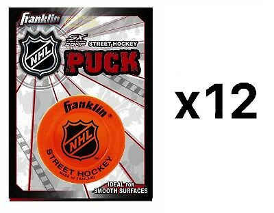 Franklin Sports NHL Street Hockey Extreme Light Puck Colors May Vary (12-Pack)