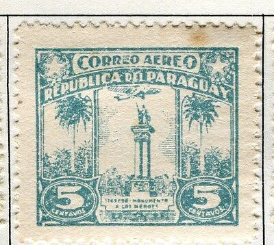 PARAGUAY;   1931 early AIR issue fine Mint hinged 5c. value
