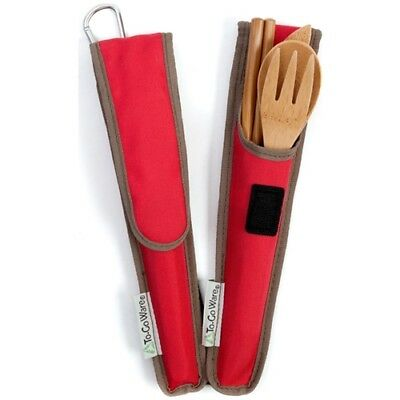 To-Go Ware RePETe Utensil Set Cayenne Red
