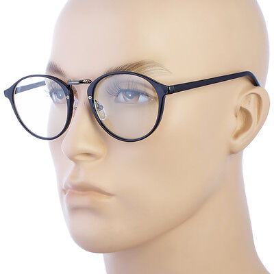 4781a074bb Retro Vintage Style Clear Lens Eye Glasses Hipster Cool Nerd Smart Oval  Round US