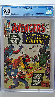 Avengers #15 CGC 9.0 VF/NM  Death of Baron Zemo   Original Owner Collection
