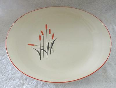 """Vintage Sears Universal Pottery Cattail Serving Platter 10¼"""" x 12"""""""