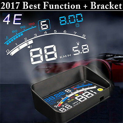 """4E 5.5"""" Universal OBD2 Car GPS HUD Head Up Display Overspeed Warning System 2017"""