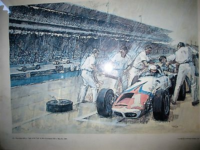 A. J. Foyt Tiger In His Tank Humble Oil Company Print Circa 1964 ESSO EXXON