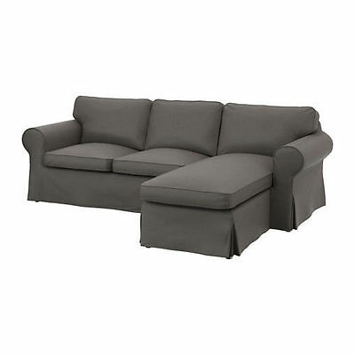 IKEA EKTORP Cover for loveseat with chaise, Nordvalla Gray