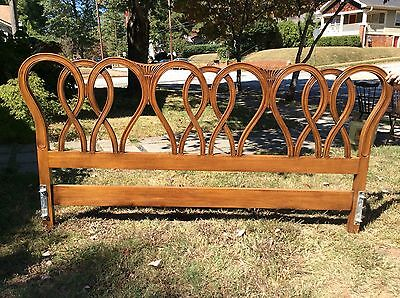 Beautiful French Provincial 1960 Fruit Wood Headboard