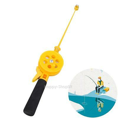 Portable Durable Mini Ice Fishing Rod 33cm High Fishing Pole With Reels Yellow